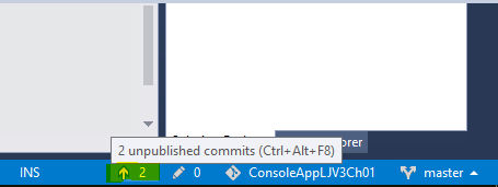 Unpublished commits